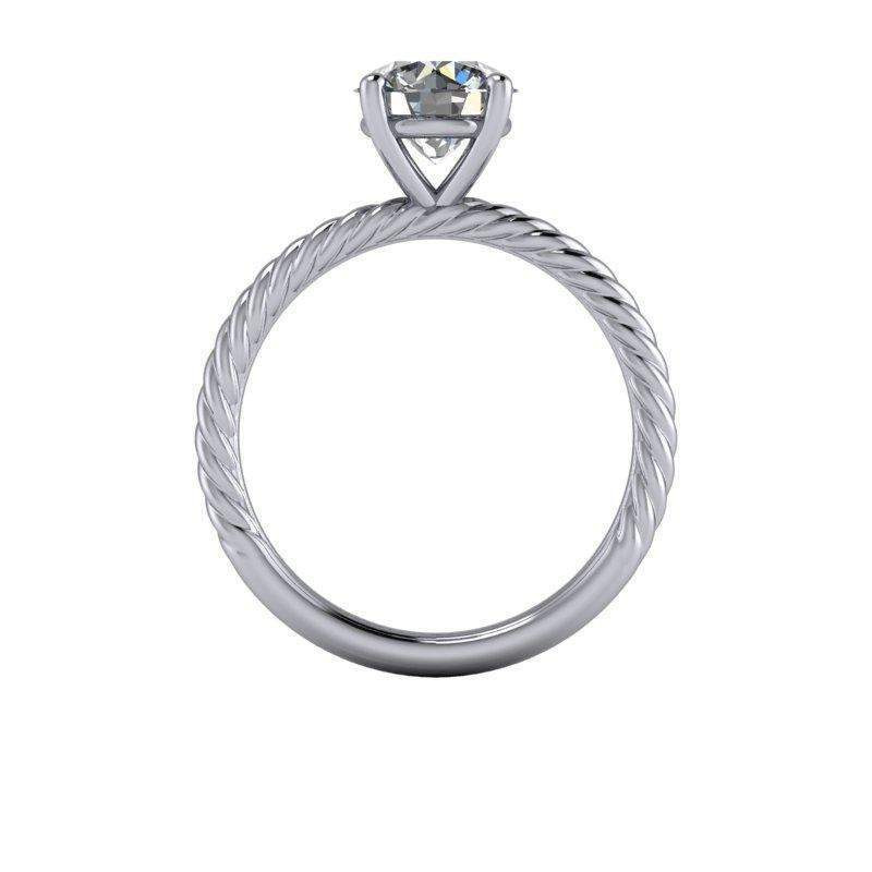 1.50 CTW Colorless Moissanite Rope Shank Bridal Set-Bel Viaggio Designs