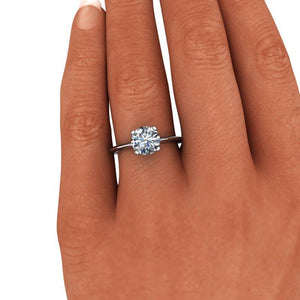 1.50 CTW Round Forever One Moissanite Solitaire Engagement Ring-Bel Viaggio Designs, LLC