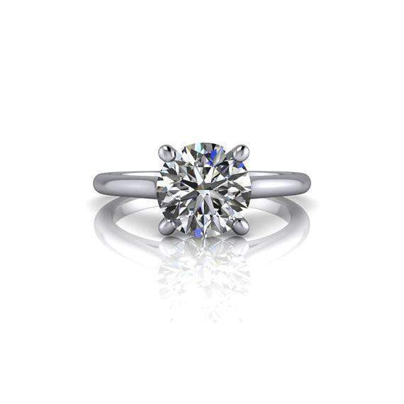 1.50 CTW Round Moissanite Infinity Solitaire Engagement Ring-Bel Viaggio Designs