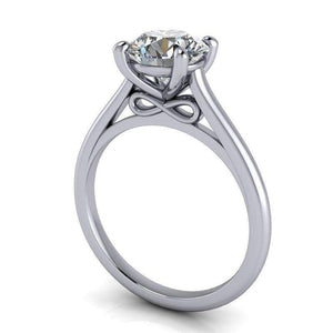 1.50 CTW Round Moissanite Infinity Solitaire Engagement Ring-Bel Viaggio Designs, LLC