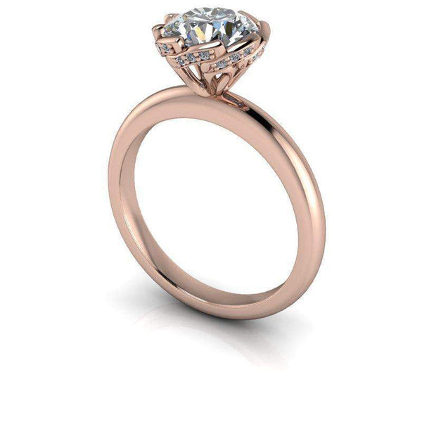 1.55 CTW Diamond Accented Forever One Moissanite Engagement Ring-Bel Viaggio Designs