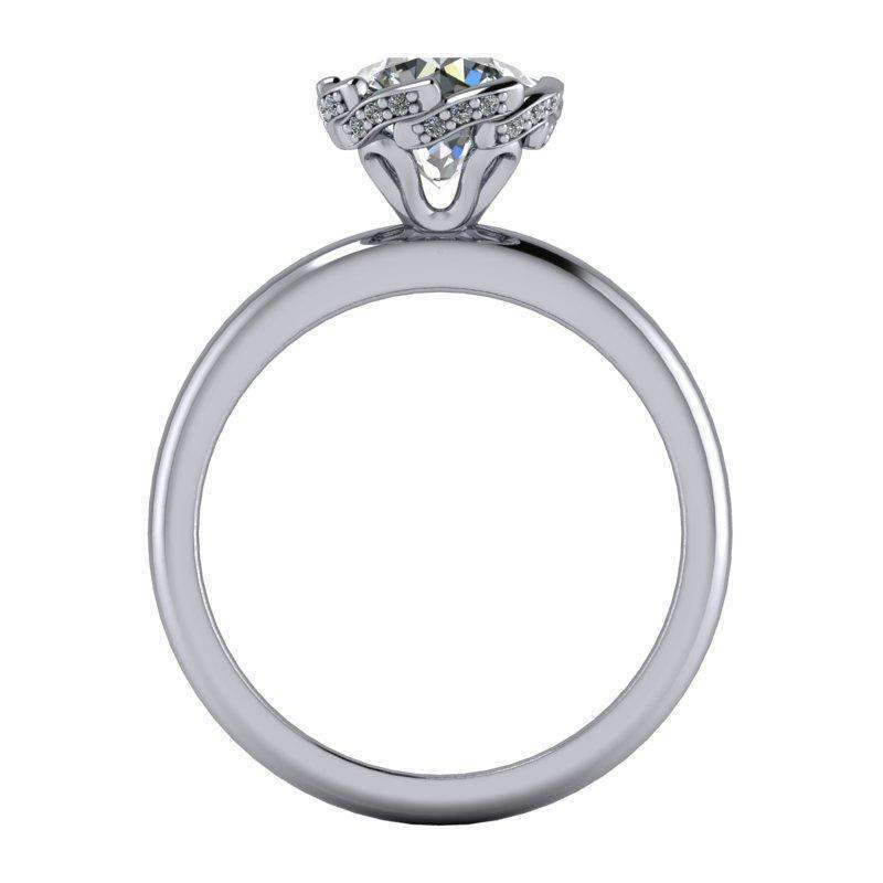 1.55 CTW Diamond Accented Moissanite Engagement Ring, Insieme Bridal®, Stone Options-BVD