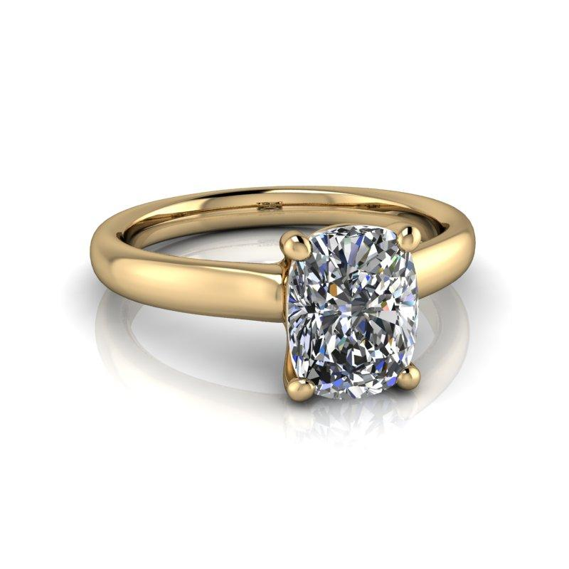 1.60 CTW Elongated Cushion Cut Moissanite Engagement Ring, Solitaire-Bel Viaggio Designs