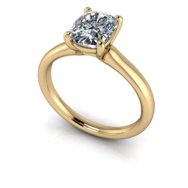 1.60 CTW Elongated Cushion Cut Moissanite Engagement Ring/Bridal Set-BVD