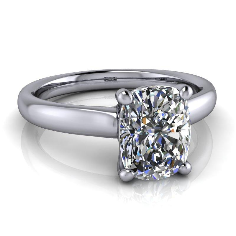 1.60 CTW Elongated Cushion Cut Moissanite Engagement Ring/Bridal Set-Bel Viaggio Designs