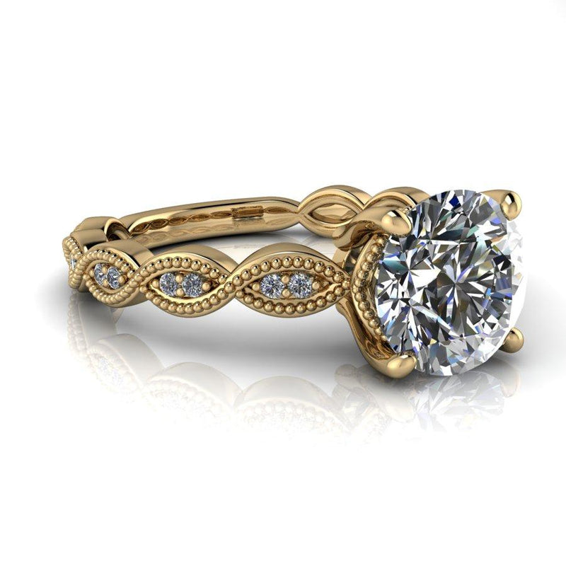 1.60 CTW Vintage Style Moissanite Engagement Ring-Bel Viaggio Designs