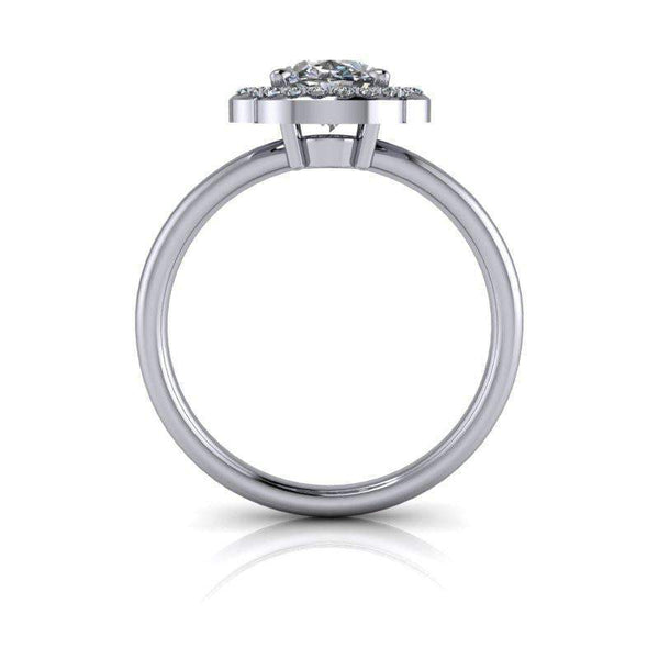 1.62 CTW Vintage Style Oval Forever One Moissanite Ring-Bel Viaggio Designs