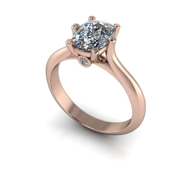 1.63 ctw Elongated Cushion Cut Solitaire Moissanite Ring, Stone Options-Bel Viaggio Designs