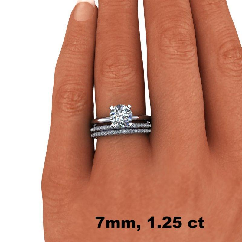 1.65 CTW DEF Color Moissanite Solitaire Bridal Set, Insieme Bridal Stackables®-Bel Viaggio Designs