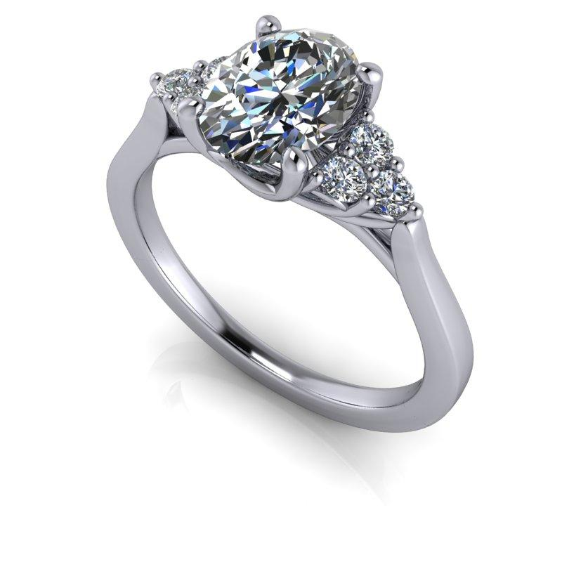 1.65 CTW Oval Cut Forever One Moissanite Engagement Ring-Bel Viaggio Designs