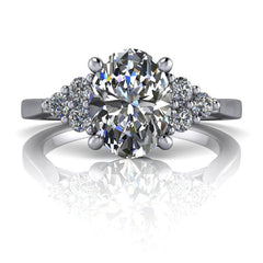 1.65 CTW Oval Cut Forever One Moissanite Engagement Ring, Center Stone Options-BVD