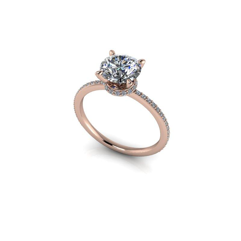 1.61 CTW Moissanite Engagement Ring, Thin Band-BVD
