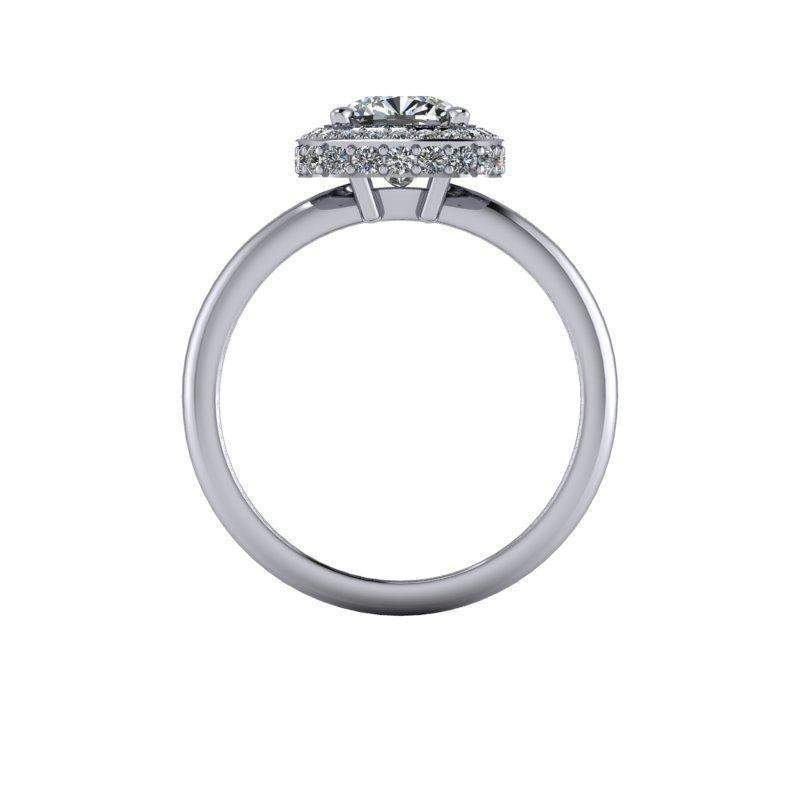 1.70 CTW Forever One Moissanite Halo Engagement Ring-Bel Viaggio Designs, LLC