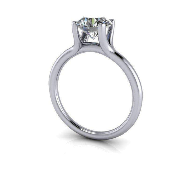 1.77 CTW Round Forever One Moissanite Solitaire Engagement Ring, Wedding Band-Bel Viaggio Designs