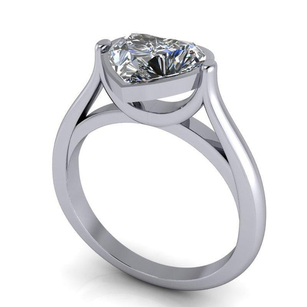 1.80 CTW Heart Shape Forever One Moissanite Engagement Ring-Bel Viaggio Designs