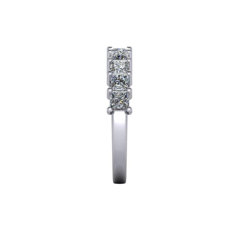 1.80 CTW Princess Cut Anniversary Moissanite Ring-Bel Viaggio Designs