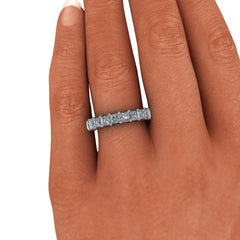 1.80 CTW Princess Cut Anniversary Moissanite Ring-BVD