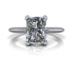 1.80 CTW Radiant Cut Forever One Moissanite Solitaire Engagement Ring - Stone Options-Forever One-Bel Viaggio Designs-Bel Viaggio®