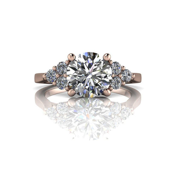 1.86 CTW Charles & Colvard Moissanite Engagement Ring, Center Stone Options-Bel Viaggio Designs