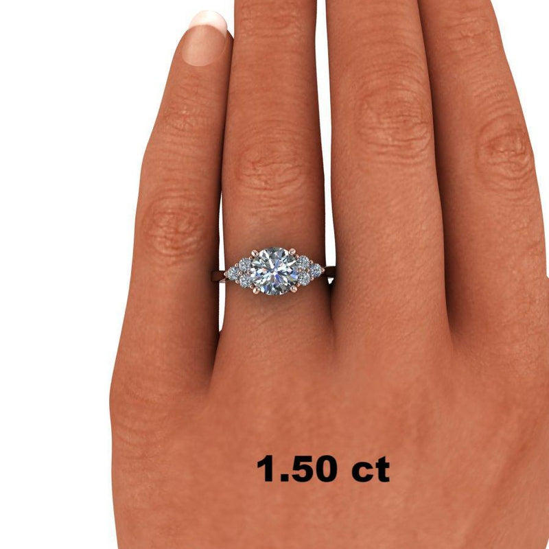 1.86 CTW Forever One Moissanite Engagement Ring, Center Stone Options-Bel Viaggio Designs