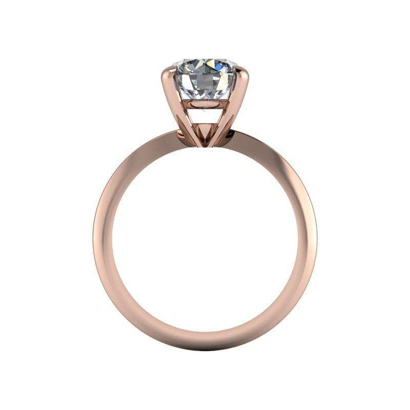 1.90 CTW High Set Moissanite Solitaire Engagement Ring, Stone Options-Bel Viaggio Designs, LLC