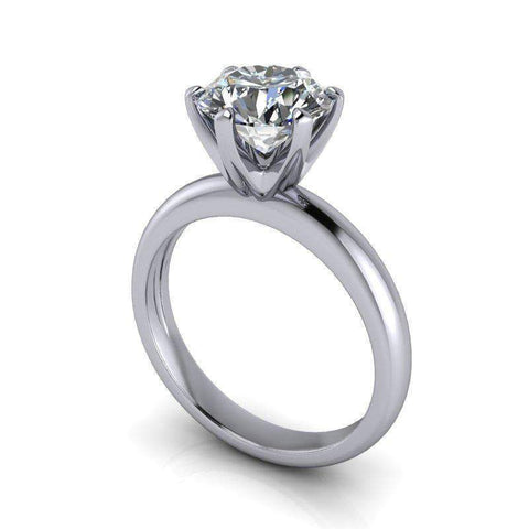 1.90 CTW Round Forever One Moissanite Solitaire Engagement Ring, Insieme Bridal Stackables®-Bel Viaggio Designs