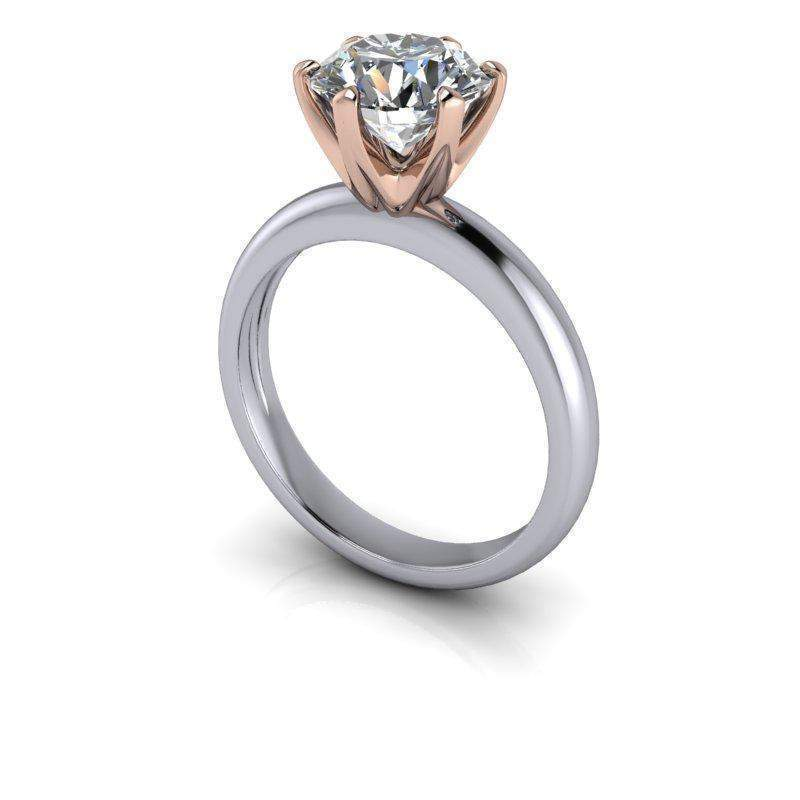 1.90 CTW Round Forever One Moissanite Solitaire Engagement Ring, Insieme Bridal Stackables®-BVD