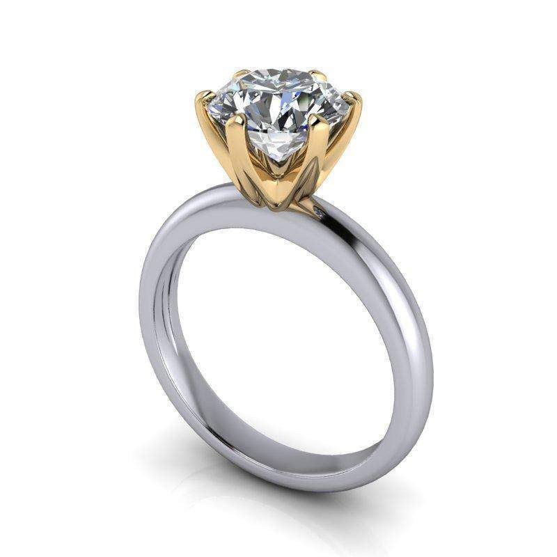 1.90 CTW Round Forever One Moissanite Solitaire Engagement Ring, Insieme Bridal Stackables®-Bel Viaggio Designs, LLC