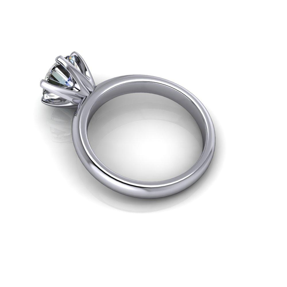 1.90 CTW Round Moissanite Solitaire Engagement Ring - Insieme Bridal Stackables®-Bel Viaggio Designs, LLC