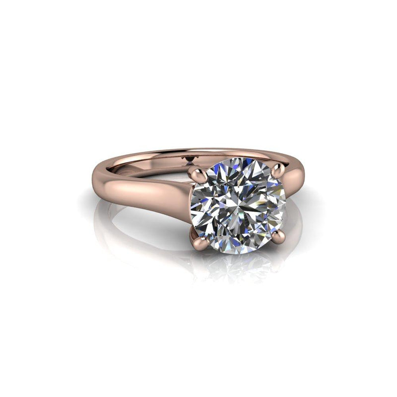 1.90 CTW Classic Solitaire Moissanite Engagement Ring-Bel Viaggio Designs