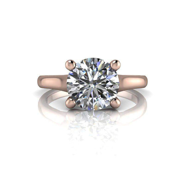 1.90 CTW Solitaire Classic Engagement Ring - Round Stone Moissanite Ring-BVD