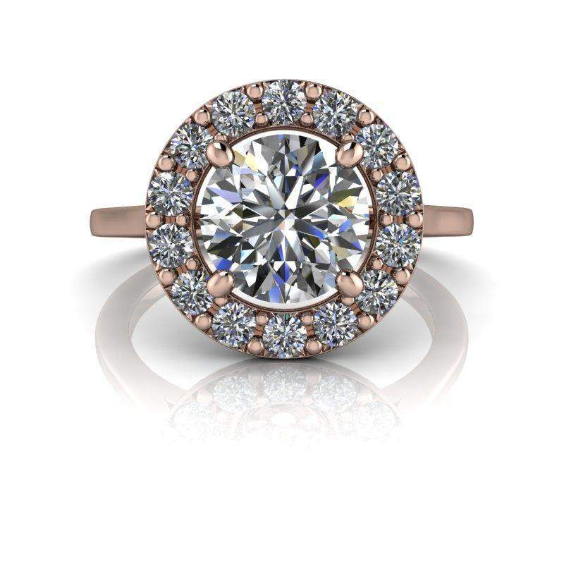 1.92 CTW Halo Engagement Ring - Colorless Moissanite Engagement Ring-Celestial Premier-Bel Viaggio Designs-Bel Viaggio®