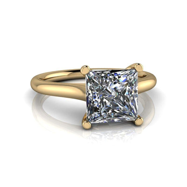 1.92 CTW Princess Cut Forever One Moissanite Solitaire Engagement Ring-Bel Viaggio Designs