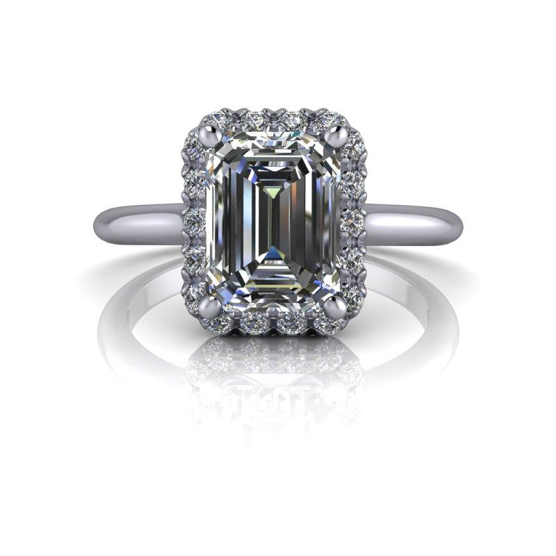 Wedding Website Domain Name Ideas: Moissanite Engagement Ring Emerald Forever One 1.95 Ct