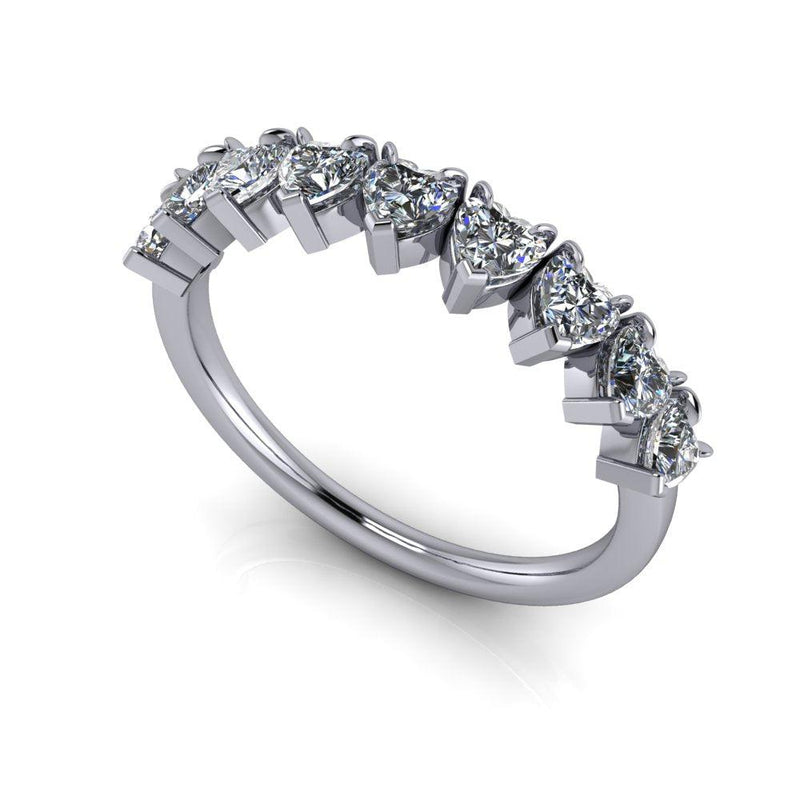 .72 ctw Heart Moissanite Anniversary Ring-Bel Viaggio Designs
