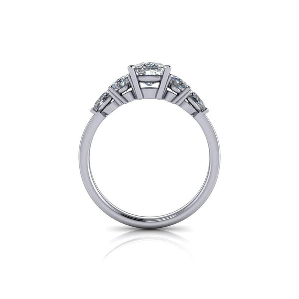 1.25 CTW Forever One Moissanite Rope Shank Engagement Ring, Center Stone Options-Bel Viaggio