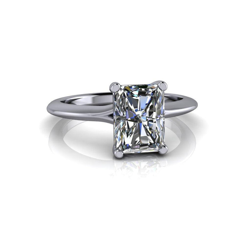 1.80 CTW Radiant Cut Forever One Moissanite Solitaire Engagement Ring - Stone Options-Bel Viaggio Designs