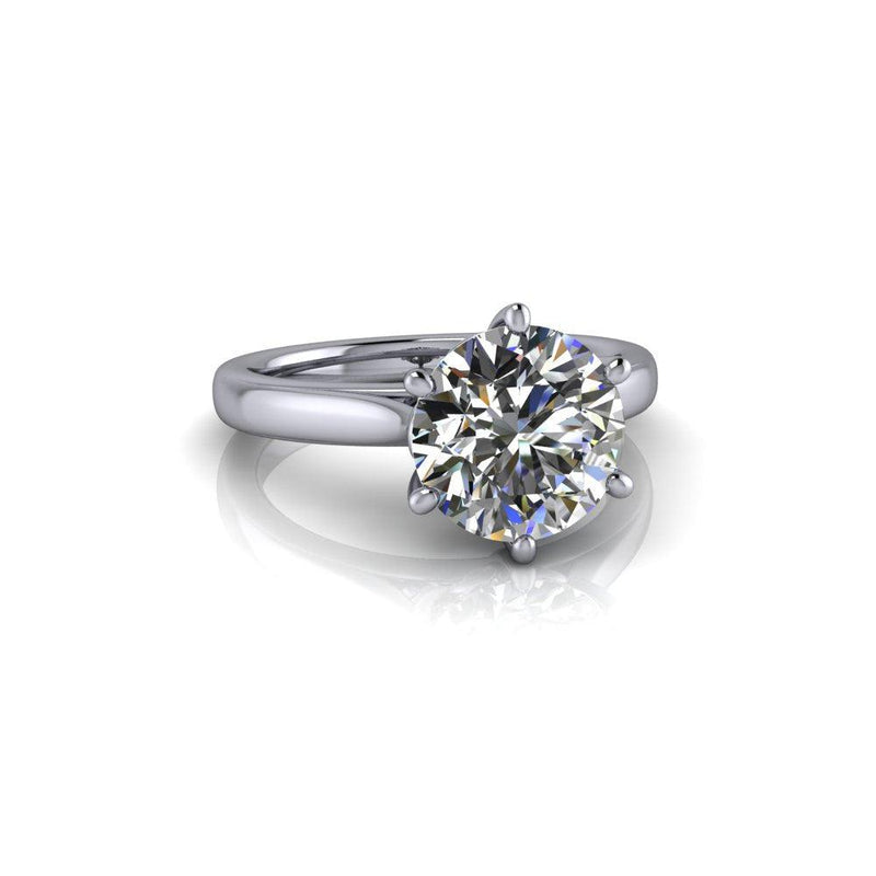 2.70 CTW Round Colorless Moissanite Solitaire Decorative Solitaire Ring-Bel Viaggio Designs