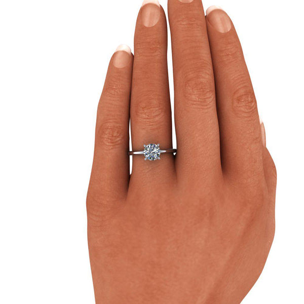 Moissanite Engagement Ring Lab Grown Diamond Ring 1.12 ctw-Bel Viaggio Designs