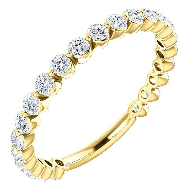 14K Gold 3/4 CTW Lab Grown Diamond Anniversary Band-Bel Viaggio Designs