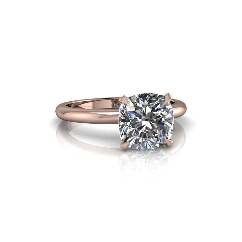 2.10 CTW Cushion Cut Forever One Moissanite Engagement Ring, Insieme Bridal Stackables®-Bel Viaggio Designs