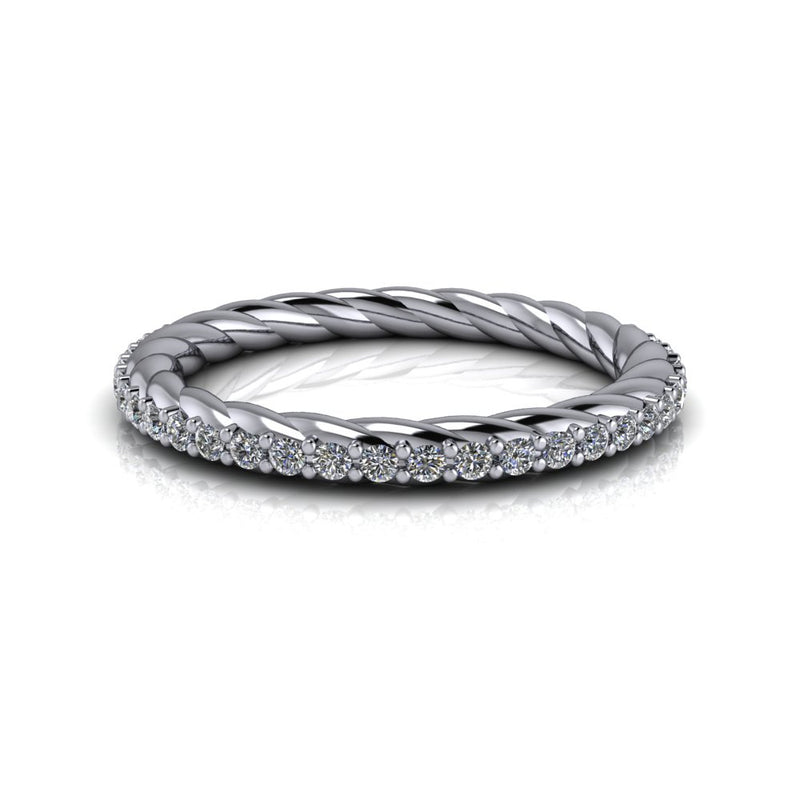 .25 CTW Lab Grown Diamond Rope Shank Wedding Band-Bel Viaggio Designs