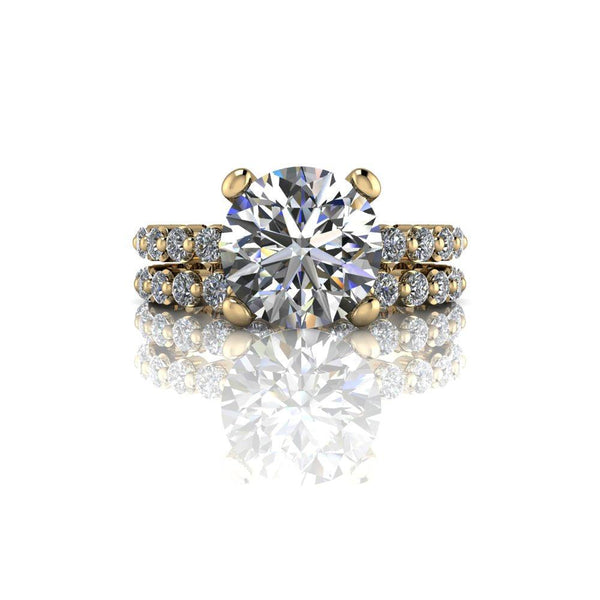 3.43 CTW Round Charles & Colvard Moissanite & Diamond Bridal Set-Bel Viaggio Designs