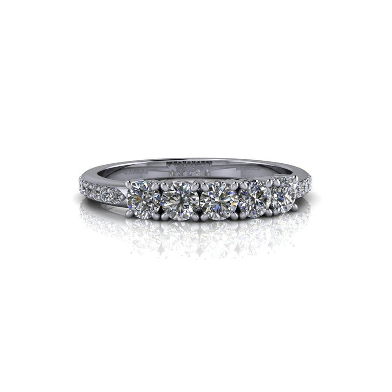 Insieme Bridal Stackables® Stacking Moissanite Wedding Band .72 CTW-Bel Viaggio Designs