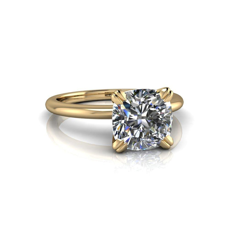 2.00 CTW Cushion Cut Forever One Moissanite Engagement Ring, Insieme Bridal Stackables®-Bel Viaggio Designs