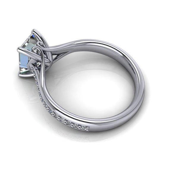2.00 CTW Forever One Moissanite Emerald Cut Engagement Ring-BVD