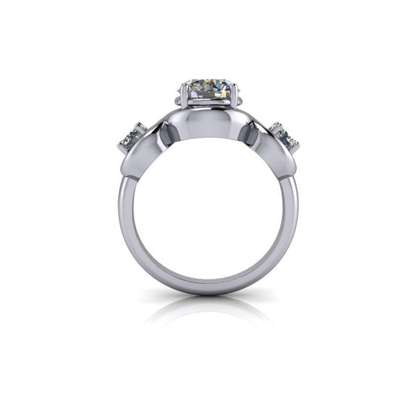 2.00 ctw Forever One Moissanite Three Stone Ring-Bel Viaggio Designs