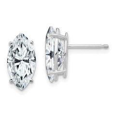 2.00 CTW Marquise Moissanite Stud Earrings, DEF Color-Bel Viaggio Designs