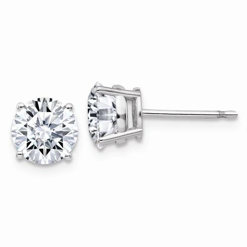 2.00 CTW Moissanite Stud Earrings, DEF Color-Bel Viaggio Designs