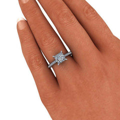 2.00 CTW Princess Cut Classic Engagement Ring-BVD